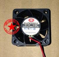 Frete Grátis Para SUPERRED CHD4012FB-O-R (E) DC 12 V 0.35A 2-wire 2-pin connector 50mm 40x40x28mm Praça Servidor Ventilador de Refrigeração