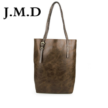 J.M.D 2017 New Arrival 100% Guarantee Genuine Vintage Leather Women's Tote Shoulder Bag for Shopping Handbags 7271