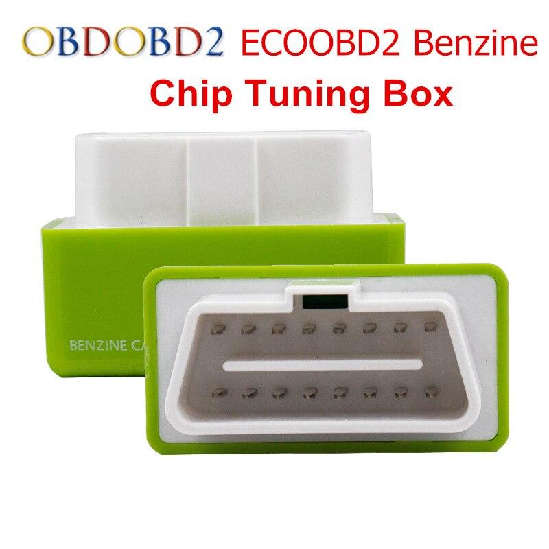 10 шт./лот зеленый ecoobd2 чип тюнинг коробка для автомобилей эко OBD2 подключи и Драйв Пособия по экономике автомобиля Приборы экономии топлива д...