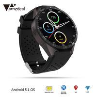 Шагомер монитор сердечного ритма 3g wifi HD дисплей Водонепроницаемый поддержка sim карты Android IOS погода Live gps Смарт часы телефон