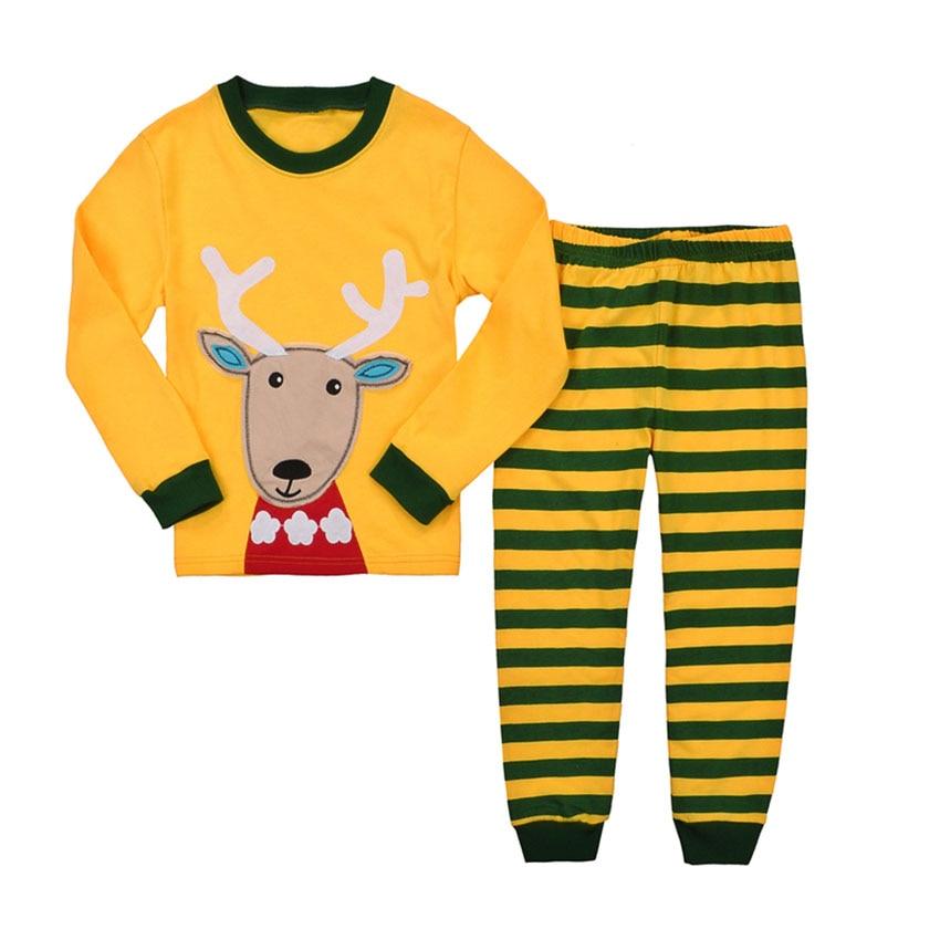 Baby Pajamas Sets for Boys Girls Cotton Kids Sleepwear Orange Infant Baby Toddler Children's Clothes Suit for 2T-7T 2015 new arrive super league christmas outfit pajamas for boys kids children suit st 004