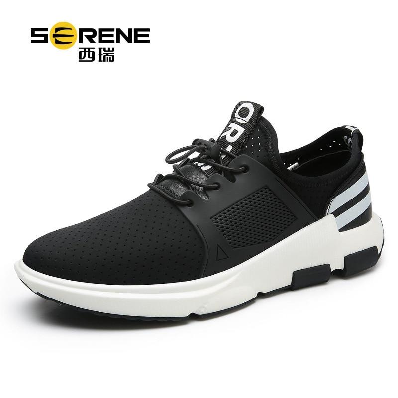 Serene Breathable Mesh Shoes Lace-up Mens Casual Slip On Shoes Mesh (air Mesh) Mens Designer Shoes Zapatillas Deportivas Hombre air mesh breathable hook