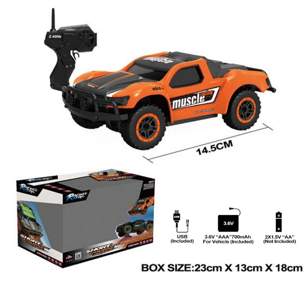 Пульт дистанционного управления автомобиль дистанционного управления игрушка ПВХ цвета электрическая игрушка хобби культивировать интерес Электрический ABS игры великолепные - Цвет: Orange