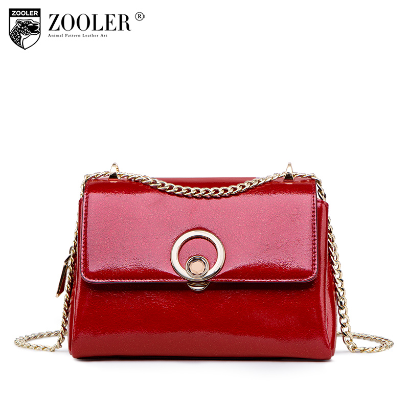 Hot genuine leather woman bag ZOOLER Fashion designer small woman messenger bag chain shoulder bag All-match bolsa feminina-H180 zooler 2018 luxury genuine leather bag for woman chain shoulder bag designer woman fashion cross body bags bolsa feminina bc100