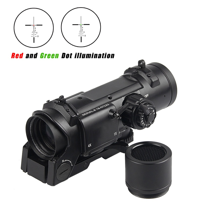 1X-4X Rifle Scope Tactical Rifle Scope Quick Detachable Adjustable Dual Role Sight For Hunting HT6-00041X-4X Rifle Scope Tactical Rifle Scope Quick Detachable Adjustable Dual Role Sight For Hunting HT6-0004
