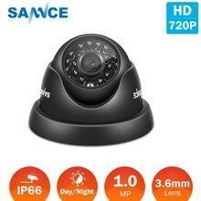 SANNCE التناظرية كاميرا مراقبة الأمن 1200TVL 720P AHD CCTV كاميرا بشكل قبة داخلي في الهواء الطلق الأشعة تحت الحمراء للرؤية الليلية 1.0MP كاميرات الدوائر التلفزيونية المغلقة