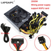 Lapsaipc 2000W Mining Miner Power Supply For S9 S7 L3 Rig Mining Machine Support 8 Graphics