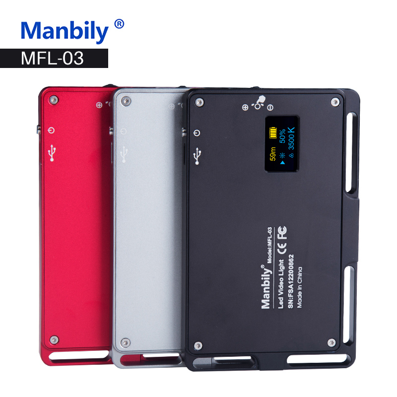 Manbily MFL-03 3500-5700 K Mini LED caméra vidéo lumière Dimmable 96 LED lampe d'éclairage photographique pour reflex numérique Canon Nikon Pentax - 2