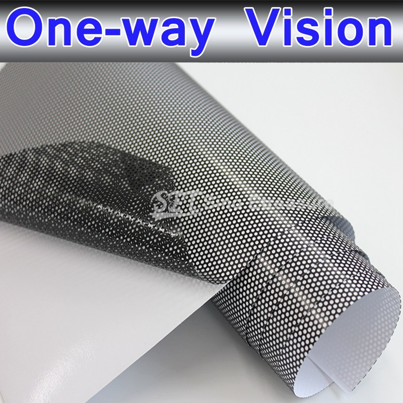Window Perforated Tint One Way Vision Film Car Bus Window