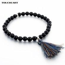 Toucheart черный натуральный камень очаровательные браслеты