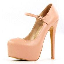Mary Janes Shoes Woman High Heels Round Toe Pumps Plus Size 35-46 Chaussure Femme Platform Shoe Pumps Party Shoes