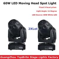 2Pcs/Lot Best Price 60W LED Spot Moving Head Light For Stage Bar Disco Party DMX Stage Light DJ Lights DMX 5/15 Channels