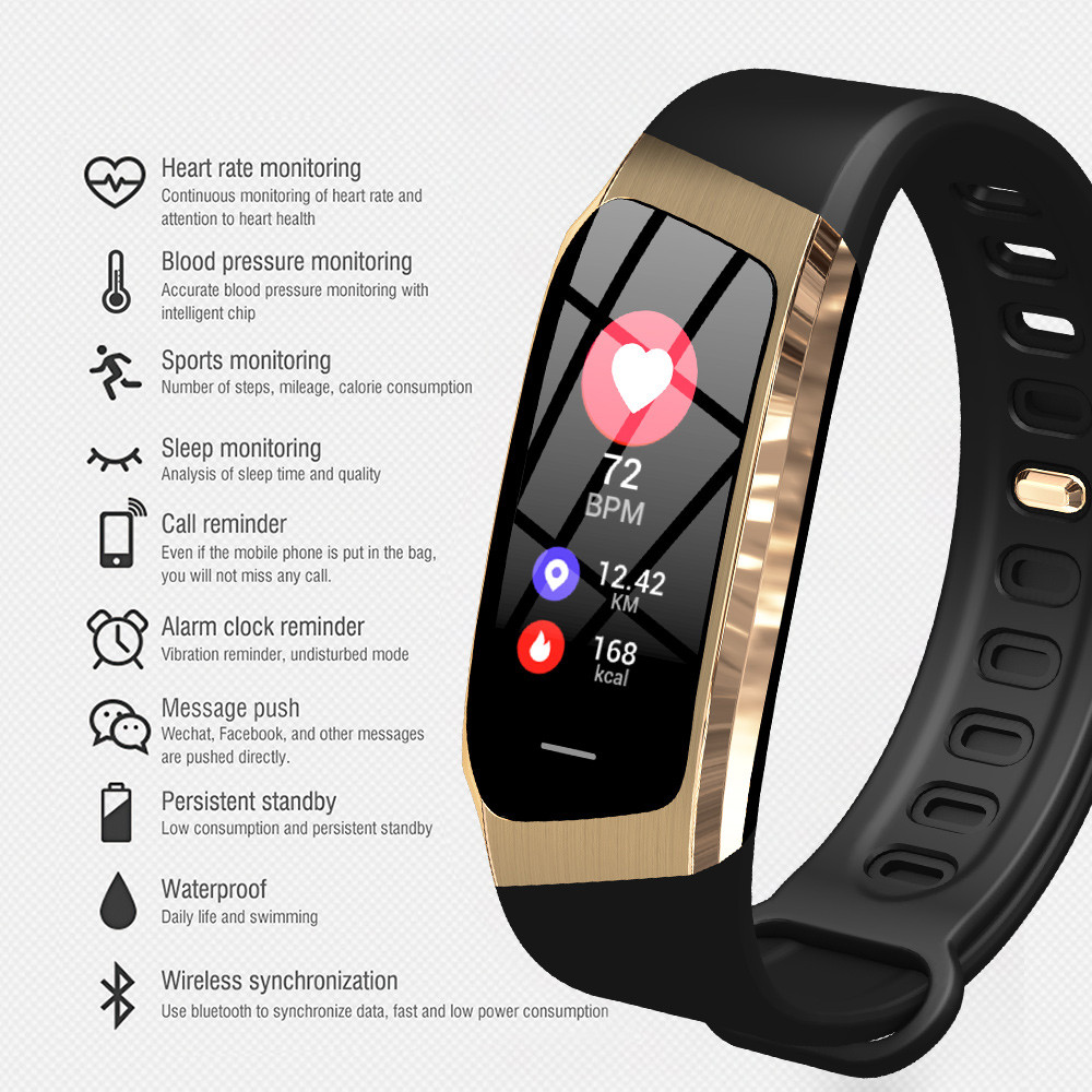 Fashion Cool Bluetooth Smartwatch Heart Rate Tracker Blood Pressure Monitor Men Watches 2019 New Fitness Smart Watch Clock Women
