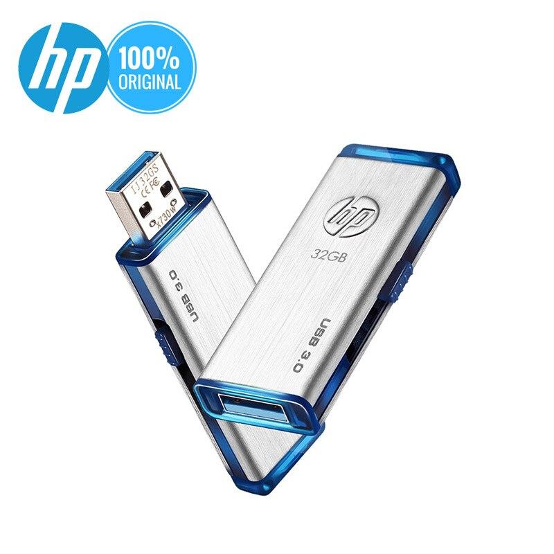 HP USB Flash Drive 128gb 64gb 32gb 16gb Pen Drive Metal USB 3.0 128gb 256gb 512gb Big Storage Pendrive Original New Memory Stick