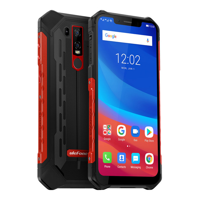 "Ulefone Armor 6 6GB 128GB IP68 IP69k Cell Phone Global LTE Bands Helio P60 AI 21MP+13MP 6.2"" Notch 5000mAh Smartphone"