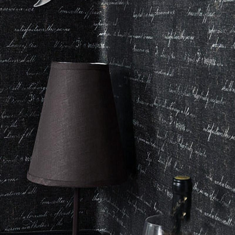 Anti Static Walls : Alphabet padded waterproof black pvc wallpapers anti