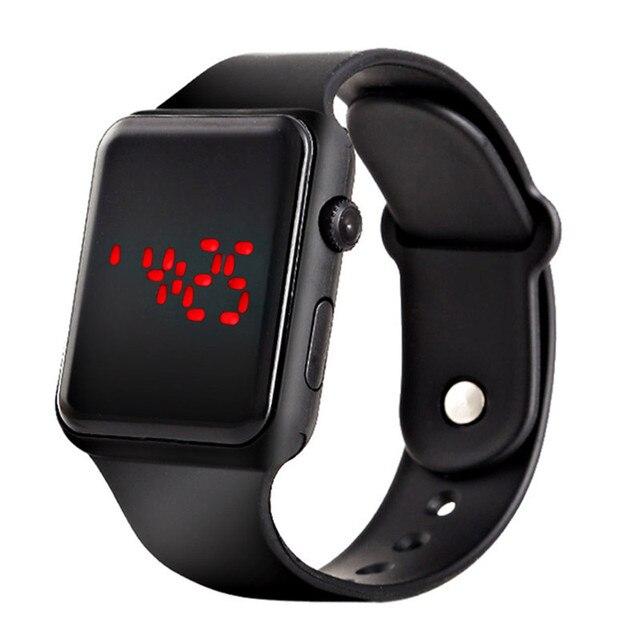 Горячее предложение Для мужчин цифровые силиконовые спортивные наручные часы для Для мужчин мужской мальчик красный свет