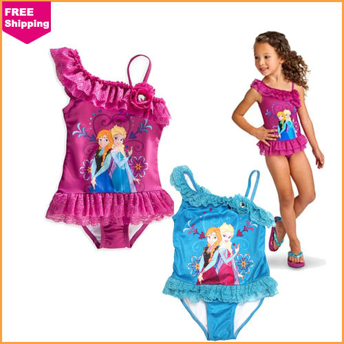 04f18ba20e1e3 One Piece New 2014 Frozen Swim Collection Elsa Bathing Suit Anna Princess  Girls Swimwear Children Swimsuit For Girls
