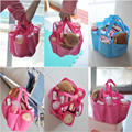 Practical Maternity Handbag Baby Diaper Nappy Changing Bag Milk Bottle Storage Organizer Inner Containers Blue Pink