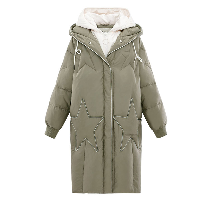 Winter women   down   jacktet female   coat   thick warm long section   Down     Coat   female outerwear fashion hooded Winter Women   down   Jacket