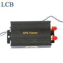 TK103B Del GPS del Vehículo perseguidor tarjeta SD Portoguese Manual de Control Remoto de banda Cuádruple GPS 103 UNID y basado en la web GPS sistema de envío libre