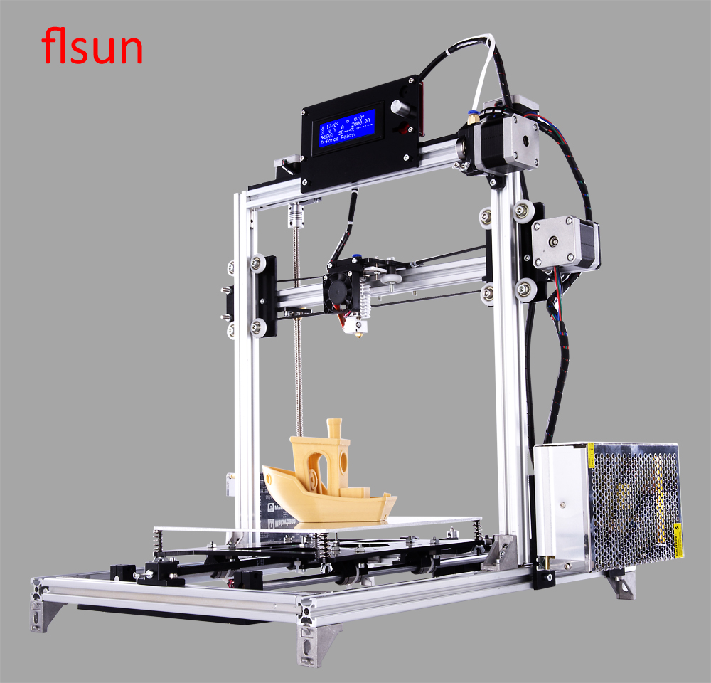2016 LCD DIY 3d Metal Printer, Large Printing Size 3d-Printer Machine 3d Printer Kit With 2 rolls Filament 2GB SD Card For Free ship from european warehouse flsun3d 3d printer auto leveling i3 3d printer kit heated bed two rolls filament sd card gift