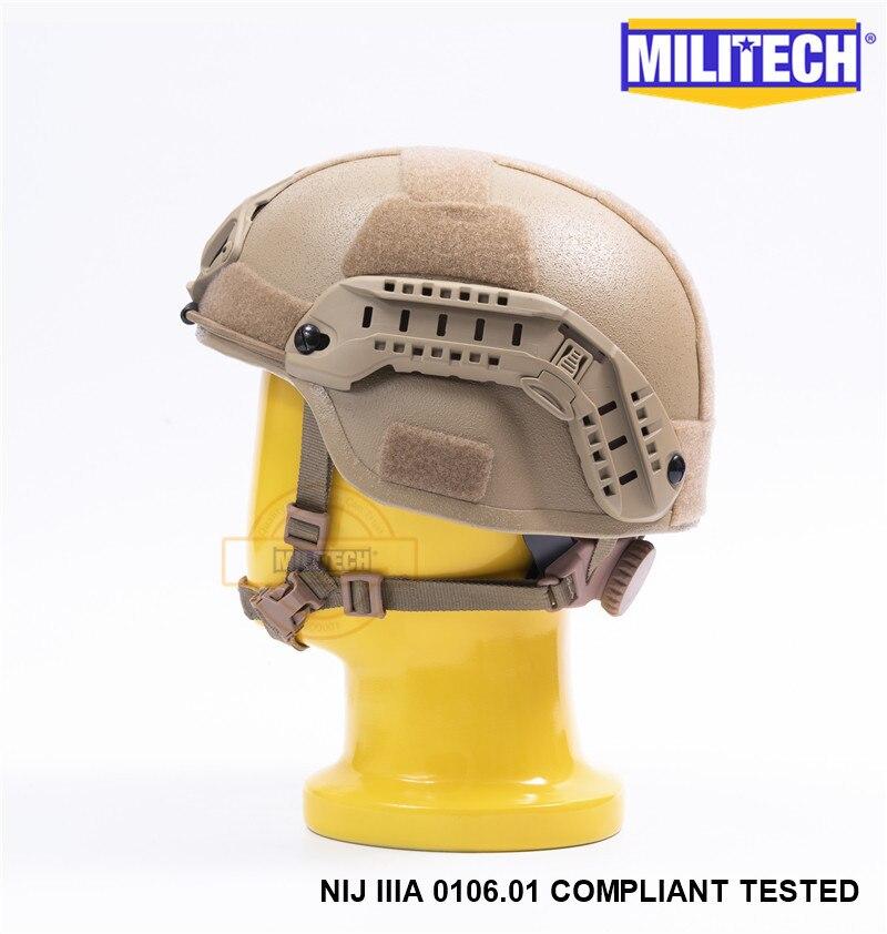 Image 4 - MILITECH Desert Tan DE MICH NIJ level IIIA 3A Tactical Bulletproof Aramid Helmet ACH ARC OCC Dial Liner Aramid Ballistic Helmetbulletproof ballistichelmet achhelmet helmet -