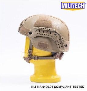 Image 4 - MILITECH Desert Tan DE MICH NIJ level IIIA 3A Tactical Bulletproof Aramid Helmet ACH ARC OCC Dial Liner Aramid Ballistic Helmet