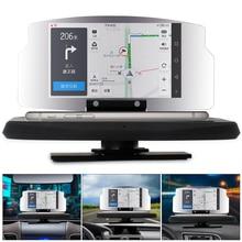 BORUiT Универсальный Автомобильный HUD Скорость Предупреждение головой вверх Дисплей gps навигации проектор держатель телефона Беспроводной Зарядное устройство для телефона