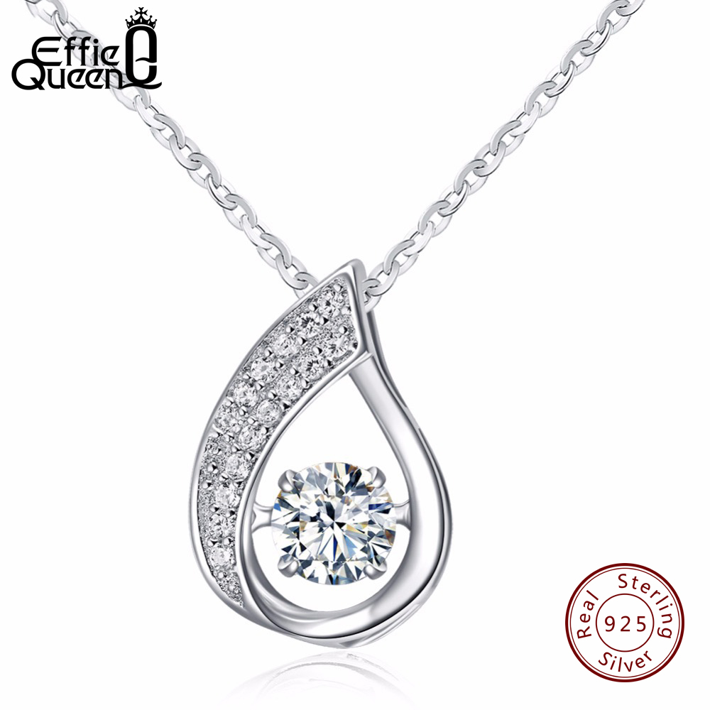 Effie Queen Solid 925 Sterling Silver Women Necklace New ...