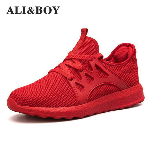 ca7239753a8 Lightweight Summer Outdoor Sports Shoes Men Sneakers Comfortable Ultra  Boosts Jogging Mesh Tennis Human Race Running Shoes Men