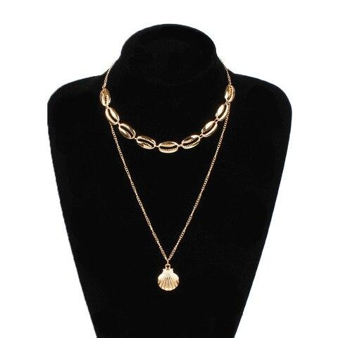 Купить женское ожерелье с подвеской в виде ракушки из сплава