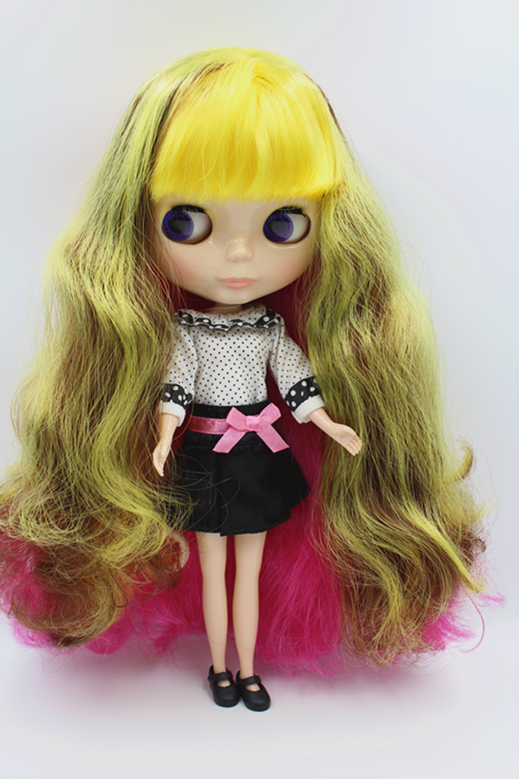 Blygirl Doll Fashion Girl Gorgeous Hair Blyth Body Doll Fashion kan förändra smink Fashion Doll