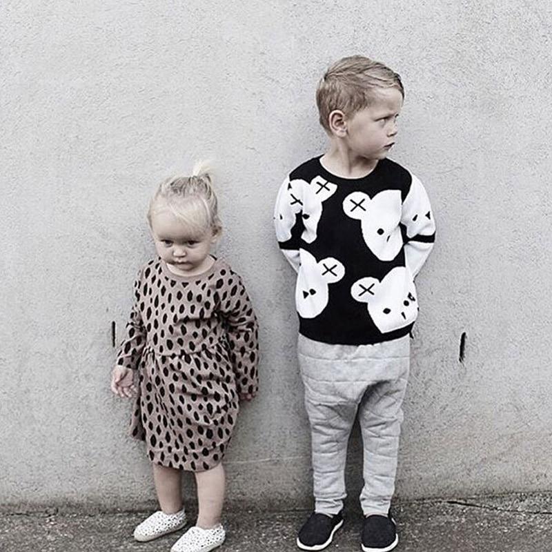 ୧ʕ ʔ୨2018 otoño nuevo bebé niños niñas suéteres niños de punto ...