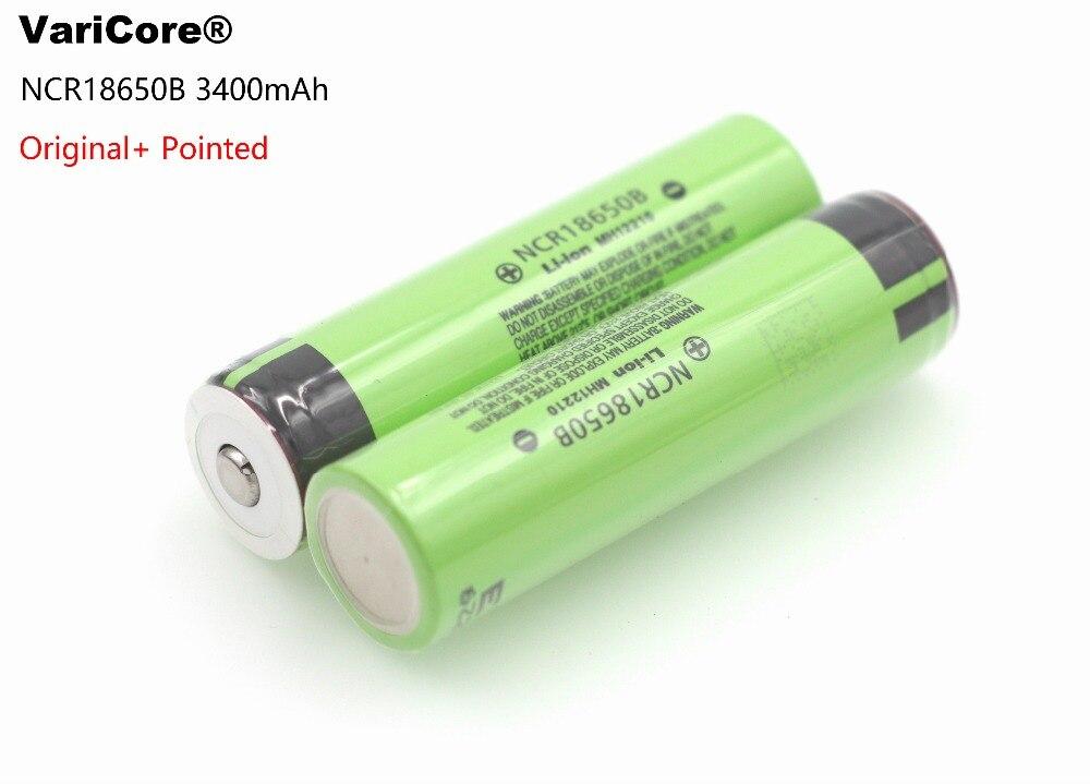 Из 2 предметов. 100% новый Оригинальный NCR18650B 3.7 В <font><b>3400</b></font> мАч <font><b>18650</b></font> литиевая аккумуляторная батарея фонарик аккумулятор + с острым носком