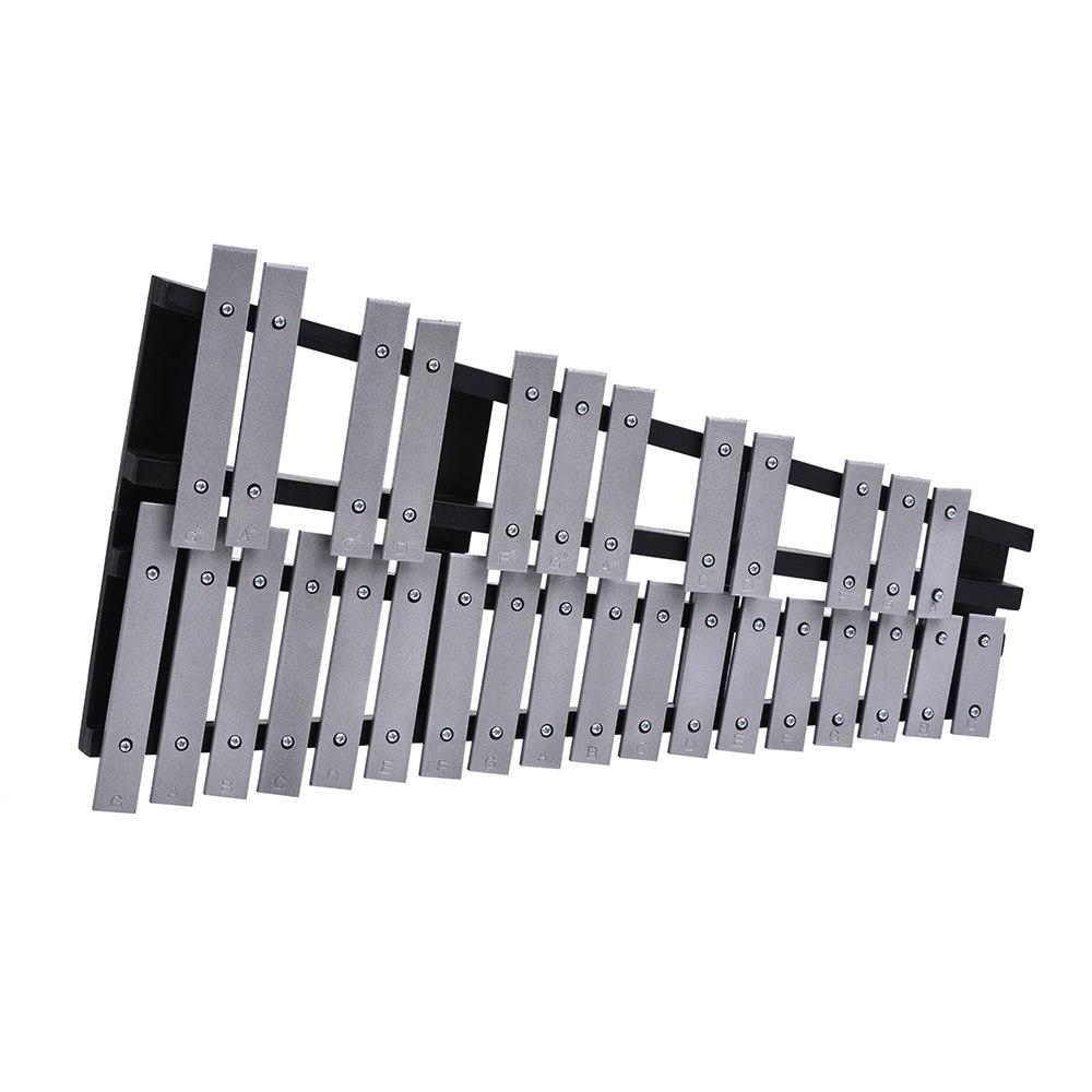 Pliable 30 Note Glockenspiel Xylophone cadre en bois barres en aluminium éducatif Percussion Instrument de musique cadeau - 5