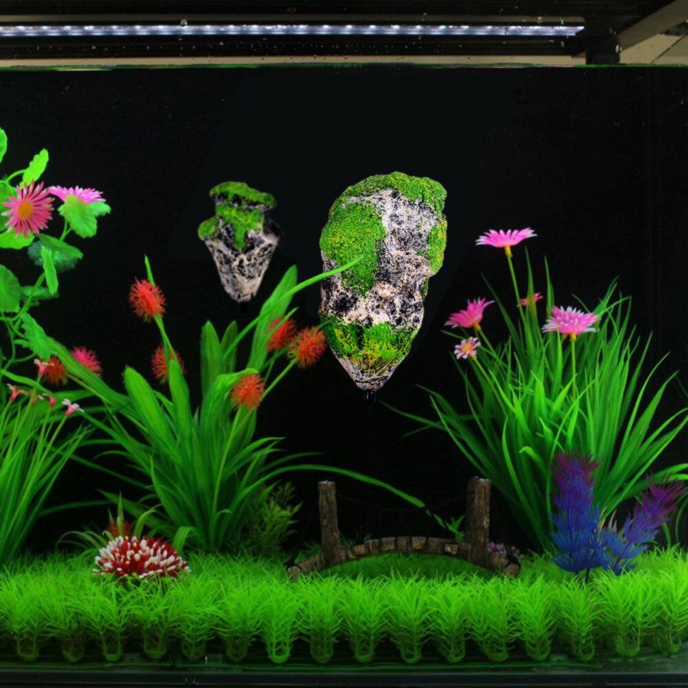 Pet Supplies Fish & Aquariums Practical 1pc Nontoxic Safe Decorative Resin Floating Rock Artificial Stone Aquarium Decor