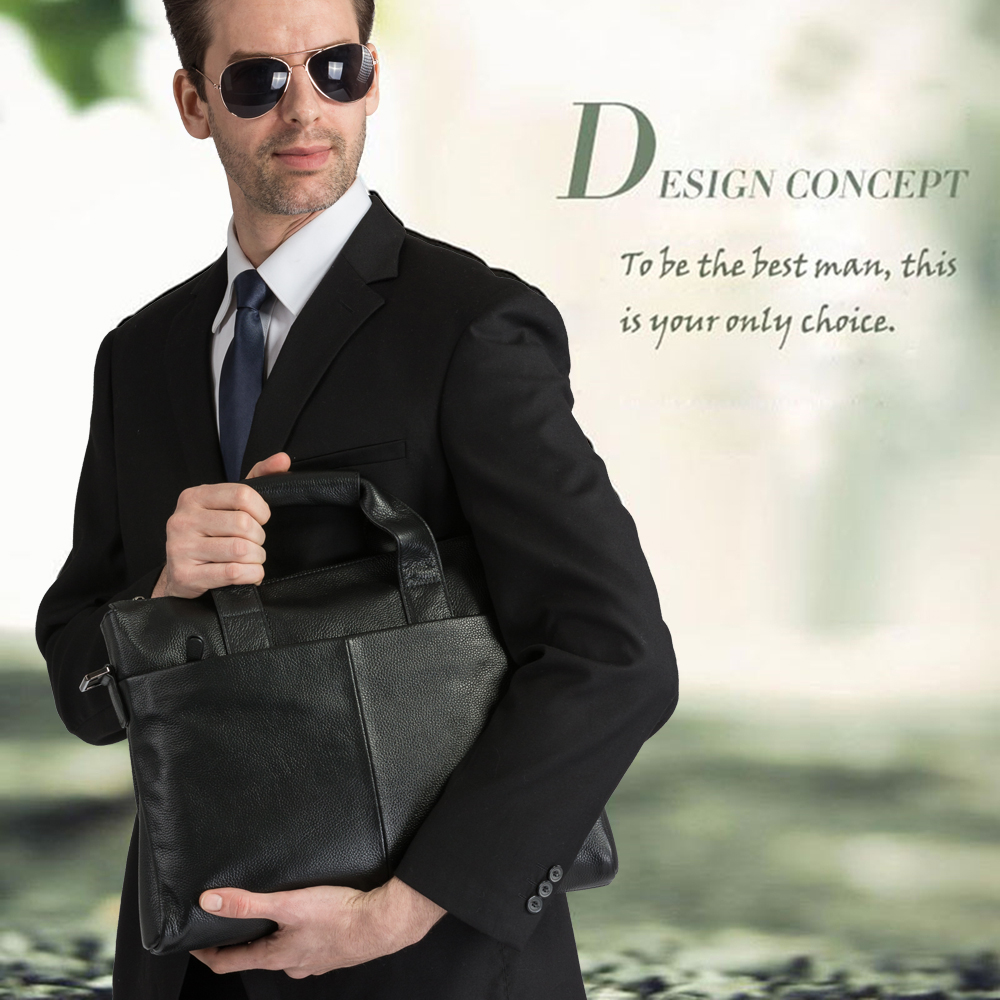 danjue briefcare marca de alta Material : Genuine Cow Leather/natural Leather/real Leather