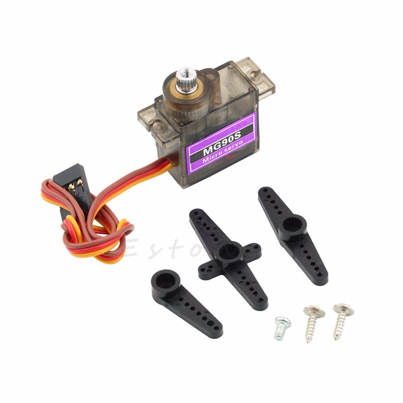 New MG90S Gear Metal Servo Micro Servo For Boat Car Plane high quality airplane helicopter mg90s metal geared micro 9g servo for plane boat 450 car diy robot