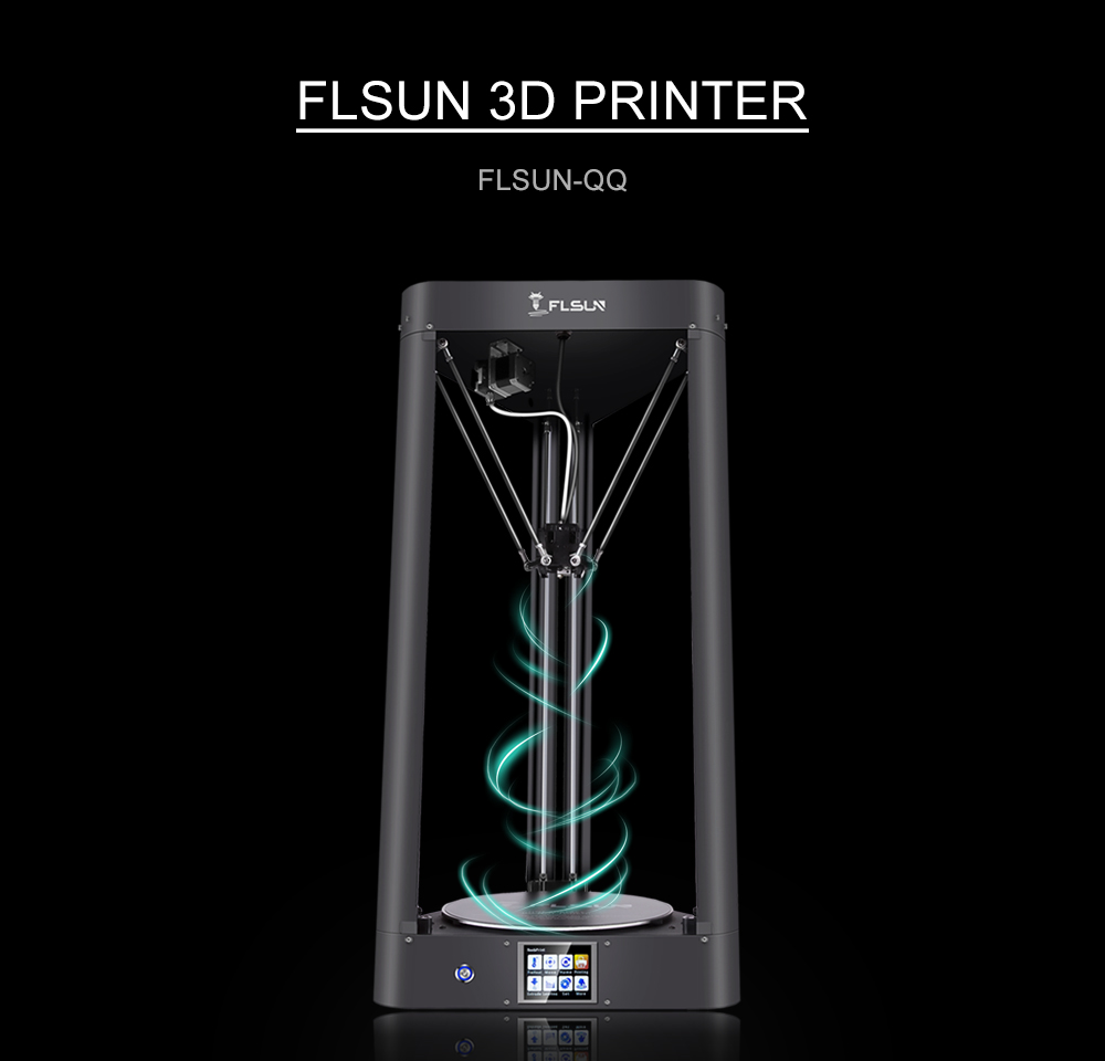 2018 High Speed Metal Structure FLSUN-QQ 3D Printer Large Printing Size 260*260*350mm With Auto-leveling Wifi Touch Screen