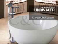 Bathroom Floor Standing Bath Tub Faucet Mixer Set Hand Held Shower Chrome Solid Brass Wholesale Free