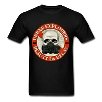 Crew Neck Clothing Adult Hot Sale Urban Explorers Tee Shirt Man Printing T Shirt Men Cotton