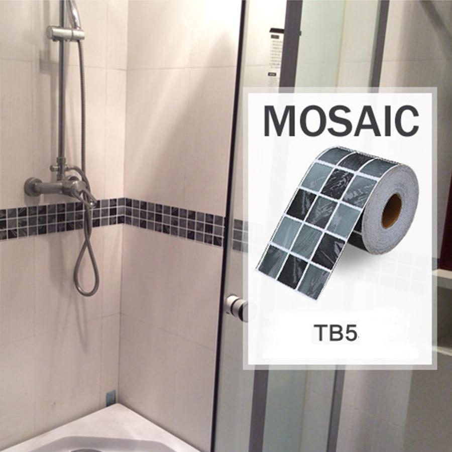 20170303 144838 mozaiek stickers badkamer for Wallpaper borders bathroom ideas