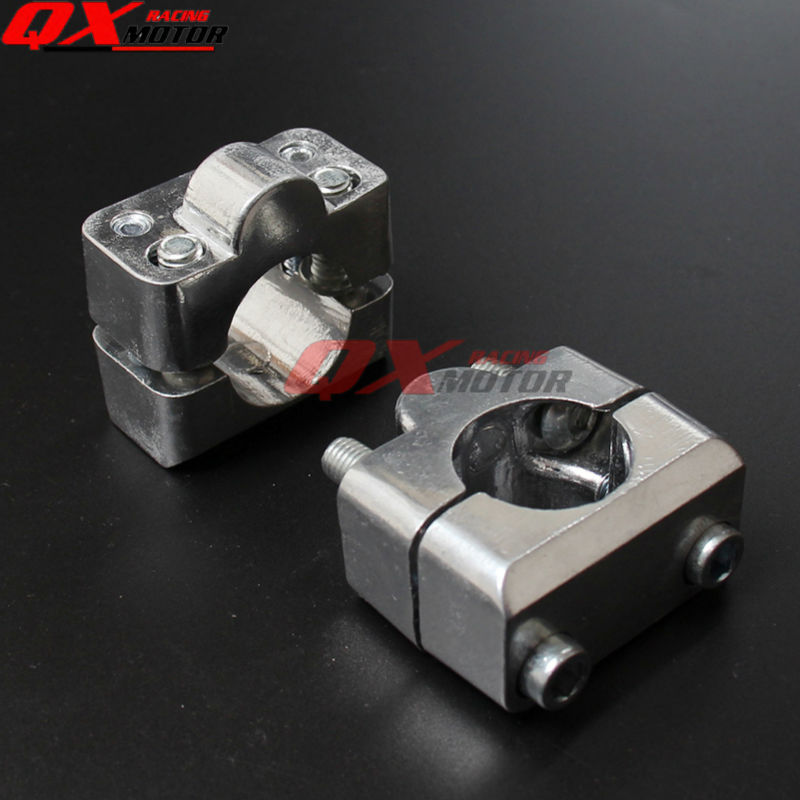 Universal 28MM riser Aluminium handlebar clamps Fat bar clamps for pit bike dirt bike ATV quad motorcycle parts free shipping