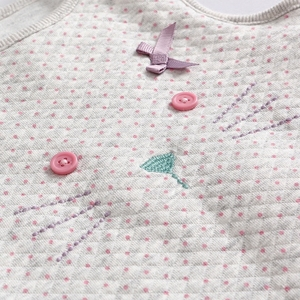 Image 3 - Vlinder 2018 Nuovo 3 pz Baby Set Infantile Neonate Primavera Vestiti di autunno Maniche Lunghe A Righe Tuta Gatto Maglia Comoda Del Bambino collant
