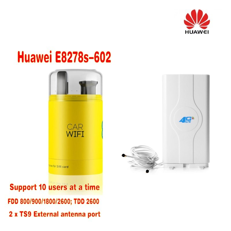 Huawei E8278s-602 4g Lte Cat.4 Modem & Wi-fi Router Unlocked New in Box plus 49dbi 4G LTE antenna автокресло baby care rubin гр 0 i 0 18кг черный серый 1008