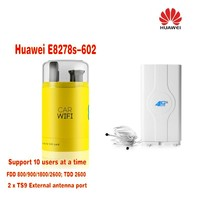 Huawei E8278s 602 4g Lte Cat.4 Modem & Wi fi Router Unlocked New in Box plus 49dbi 4G LTE antenna