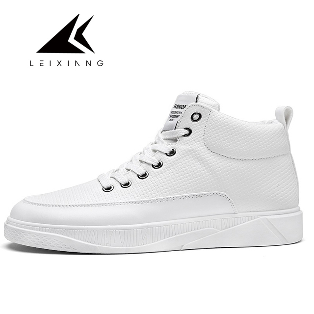 2257a97ff15 2017 New Styles All White Star Lace-up Skateboarding Shoes Zapatos Hombre  High Top Waterproof