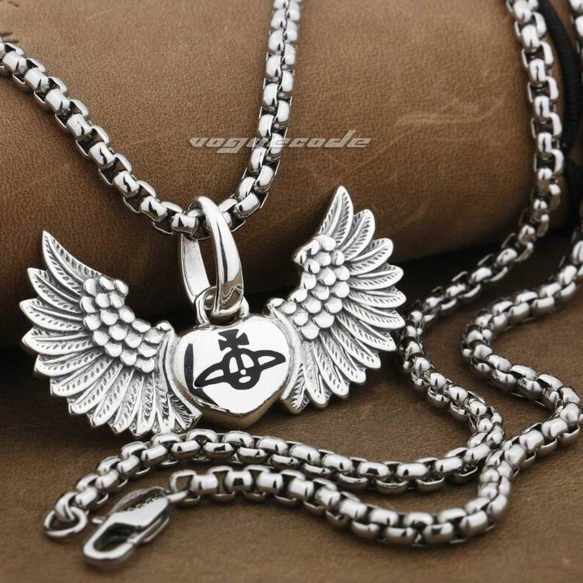925 Sterling Silver Angel Wing Lovely Heart Mens Biker Rock Punk Charms Pendant 9F009 linsion angel bird wing feather 2 side solid 925 sterling silver charms pendant 8a008