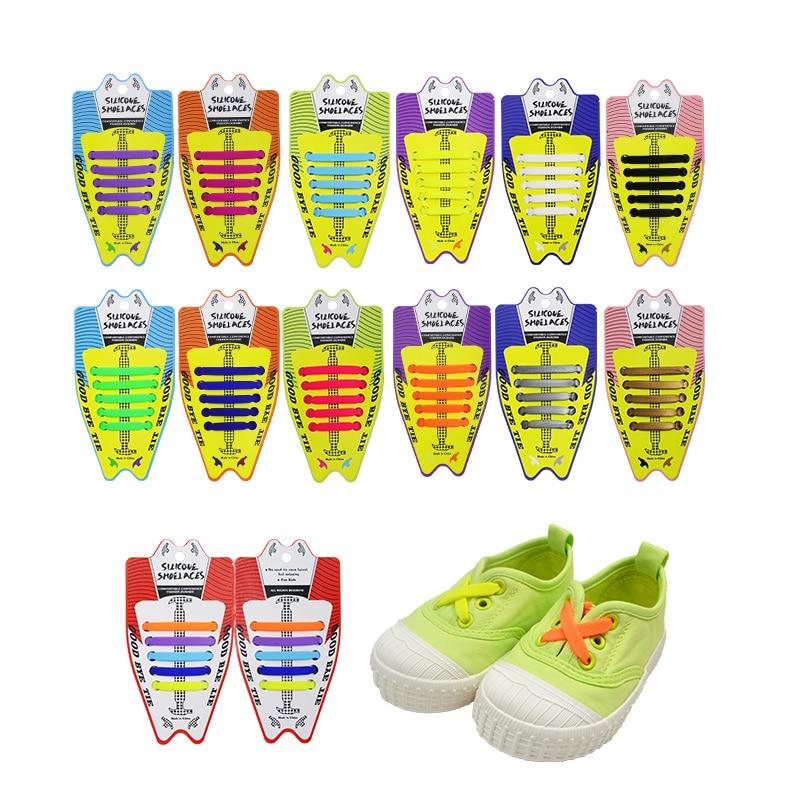 Children's Lacing Silica Gel Shoelace Elastic Silicone Shoelaces No Tie Shoe Laces New Children Lazy Laces Gifts 10pcs/lot